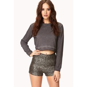 Forever 21 Disco Doll High Waisted Shorts M NWT